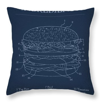 Hamburger Throw Pillow by Aged Pixel