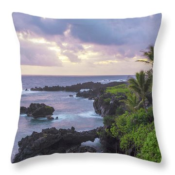 Hana Arches Sunrise 3 - Maui Hawaii Throw Pillow by Brian Harig