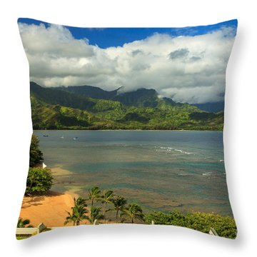 Hanalei Bay Throw Pillow by James Eddy