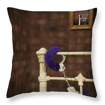 Handcuffs Throw Pillow by Amanda And Christopher Elwell
