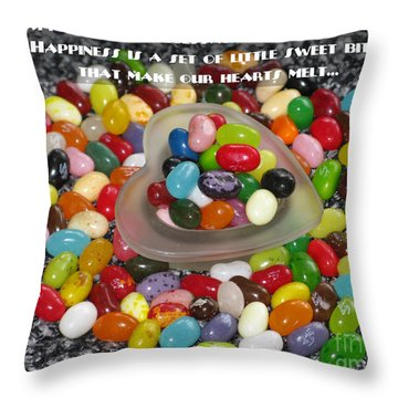 Happiness Is Made Of Tiny Bits Throw Pillow by Ausra Huntington nee Paulauskaite