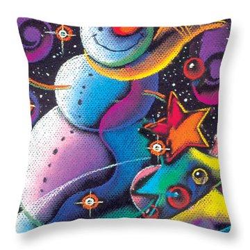 Happy Christmas Throw Pillow by Leon Zernitsky