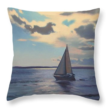 Happy Hour Throw Pillow by Dianne Panarelli Miller