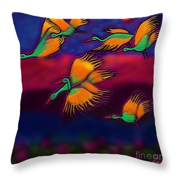 Happy Journey Throw Pillow by Latha Gokuldas Panicker