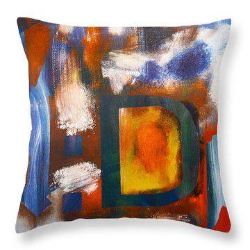 Happy Things By 4 Year Old Artist Throw Pillow by Sydney Marlow