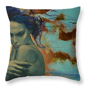 Harboring Dreams Throw Pillow by Dorina  Costras