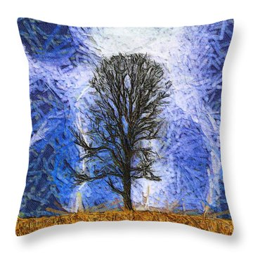 Harvest Storm Throw Pillow by Dan Sproul