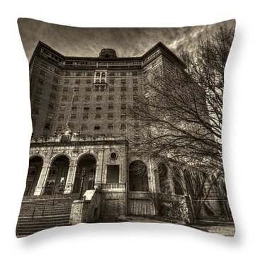 Haunted Baker Hotel Throw Pillow by Jonathan Davison