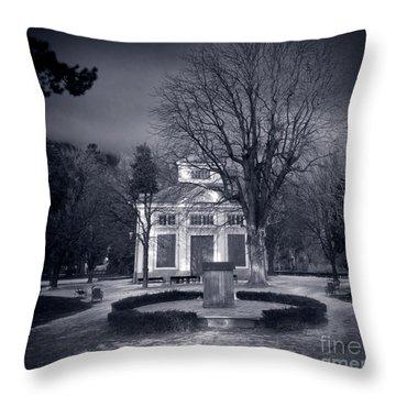 Haunted House Throw Pillow by Michal Bednarek