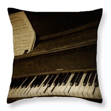 Haunted Melody Throw Pillow by Amy Weiss