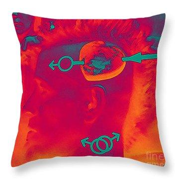 Hawk Cut Valentine 2012 Throw Pillow by Feile Case