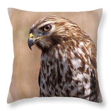 Hawk - Sphere - Bird Throw Pillow by Travis Truelove