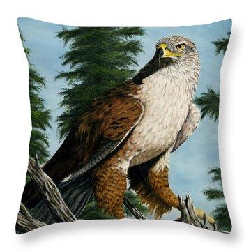 Hawkeye Throw Pillow by Rick Bainbridge