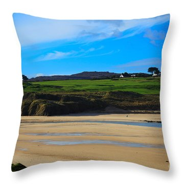 Hayle Estuary Cornwall Throw Pillow by Louise Heusinkveld