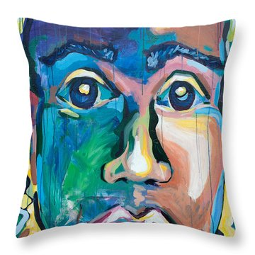 Head 1.0 Throw Pillow by Julia Pappas