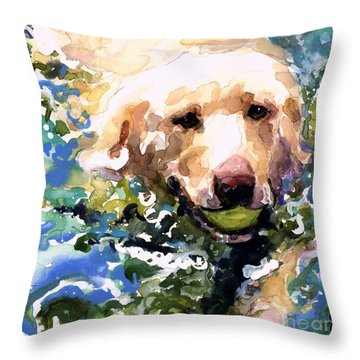 Head Above Water Throw Pillow by Molly Poole