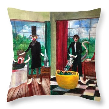 Healthcare Then And Now Throw Pillow by Randol Burns