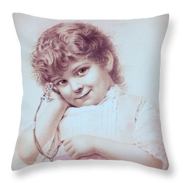 Hear It Tick Throw Pillow by Angela Wright
