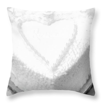 Heart Cake Throw Pillow by Kathleen Struckle