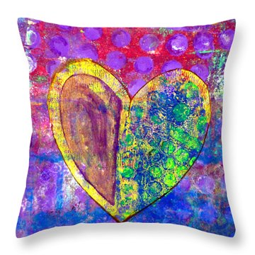 Heart Of Hearts Series - Discovery Throw Pillow by Moon Stumpp