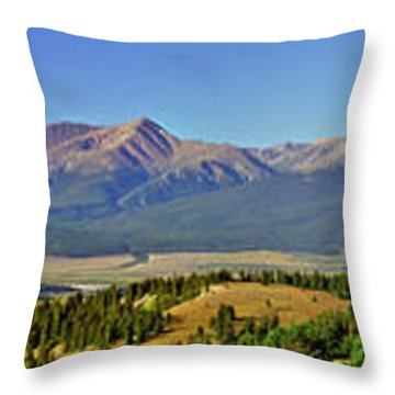 Heart Of The Sawatch Panoramic Throw Pillow by Jeremy Rhoades
