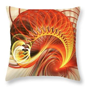 Heart Wave Throw Pillow by Anastasiya Malakhova