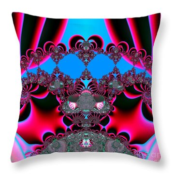 Hearts Ballet Curtain Call Fractal 121 Throw Pillow by Rose Santuci-Sofranko