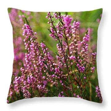 Heather Throw Pillow by Carol Groenen