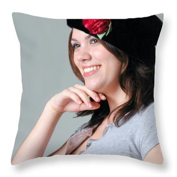 Heather Throw Pillow by Kathleen Struckle