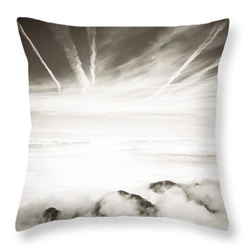 Throw Pillow featuring the photograph Heaven And Hell by Thierry Bouriat