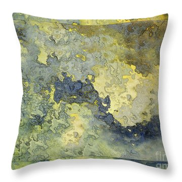 Heavenly Clouds Abstract Throw Pillow by Debbie Portwood