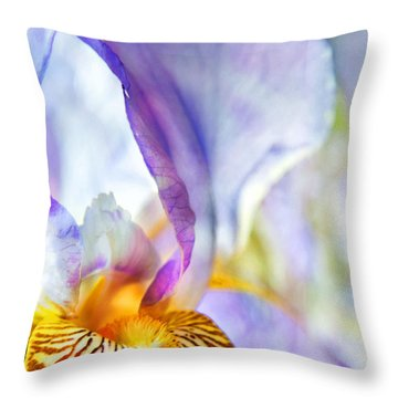 Heavenly Iris Throw Pillow by Theresa Tahara