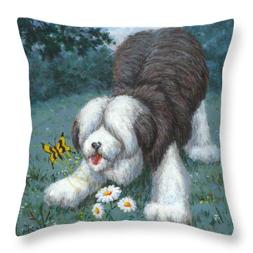 Hector Hassels A Butterfly Throw Pillow by Richard De Wolfe