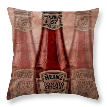 Heinz Tomato Ketchup Throw Pillow by Dan Sproul