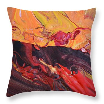 Hell-bent Throw Pillow by Donna Blackhall