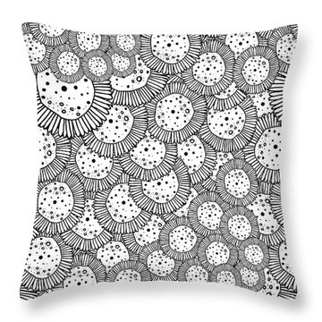 Hello Flower Throw Pillow by Susan Claire