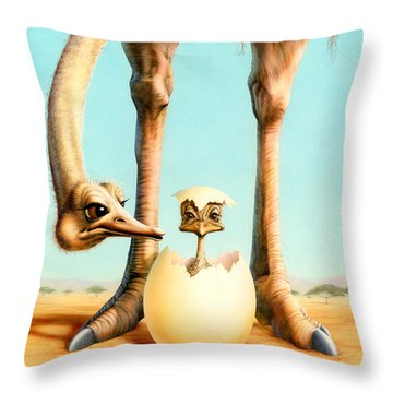 Hello Mum Throw Pillow by Andrew Farley