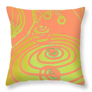Her Navel Peach Vibrates Pulsates  Throw Pillow by Feile Case
