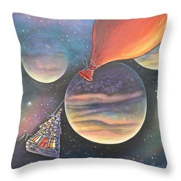 Here We Go Again Throw Pillow by Krystyna Spink