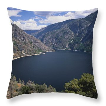 Hetch Hetchy Reservoir Throw Pillow by Mark Newman