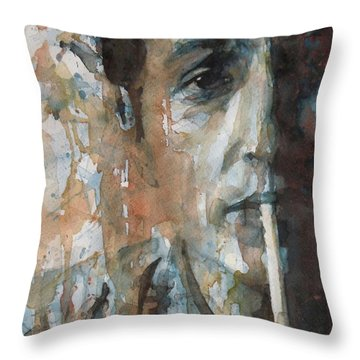 Hey Mr Tambourine Man Throw Pillow by Paul Lovering