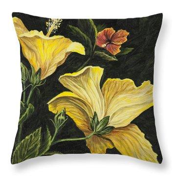 Hibiscus 2 Throw Pillow by Darice Machel McGuire