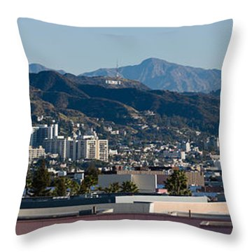 High Angle View Of A City, Beverly Throw Pillow by Panoramic Images