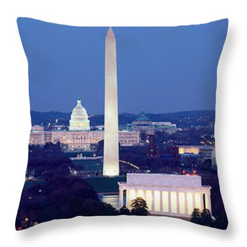 High Angle View Of A City, Washington Throw Pillow by Panoramic Images