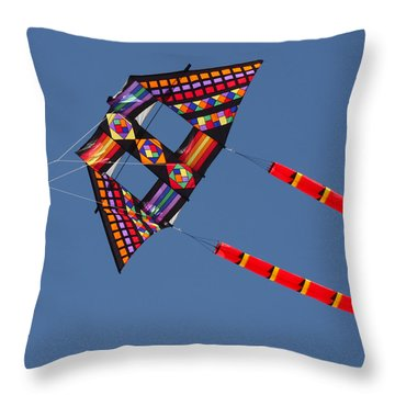 High Flying Kite Throw Pillow by Art Block Collections