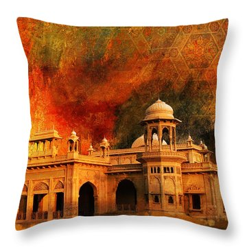 Hindu Gymkhana Throw Pillow by Catf