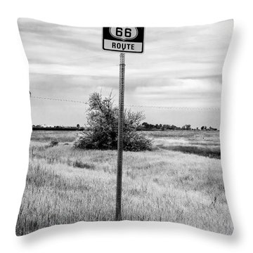 Historic Route 66 Throw Pillow by John Rizzuto