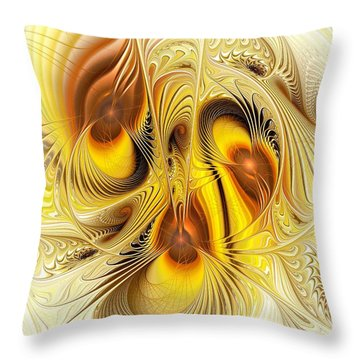 Hive Mind Throw Pillow by Anastasiya Malakhova