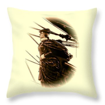 Hms Bounty - Lost At Sea  Throw Pillow by Julia Springer