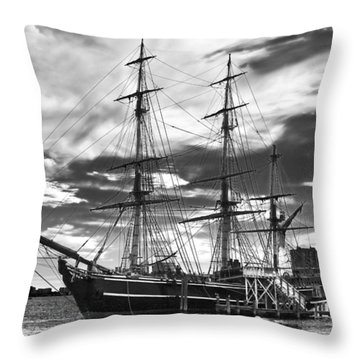 Hms Bounty Singer Island Throw Pillow by Debra and Dave Vanderlaan